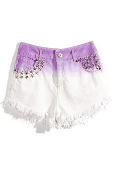 Inspiration: Ombre shorts. DIY with dark blue jeans, dip in bleach water. CW
