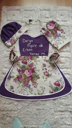 Toddler / Children Apron Personalized Handmade Denim and Accent Fabric of Choice Embroidery Applique With Ruffles Pockets and Rickrack Sewing Hacks, Sewing Crafts, Childrens Aprons, Kids Apron, Toddler Apron, Cute Aprons, Sewing Aprons, Apron Designs, Aprons Vintage