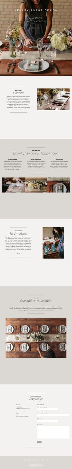 Nice, long scroll site, good open feel & has a feminine vibe without being too soft.