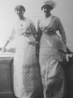 Zoom edit of very rare photo of Olga with an unknown woman