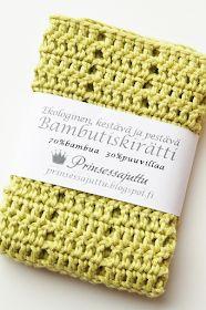 Prinsessajuttu: Virkattu tiskirätti, OHJE x 6 Knit Crochet, Knitting, Diy, Handmade, Crocheting, Stitches, Choices, Tutorials, Patterns