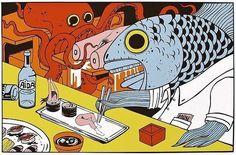 Human sushi.  Odd and creepy.