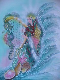 Die Meereskönigin, aus meinem Märchenbuch  Christl Vogl