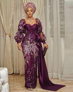 Nigerian Lace Dress, Nigerian Lace Styles, Aso Ebi Lace Styles, Lace Gown Styles, African Lace Styles, African Lace Dresses, Ankara Gown Styles, African Style, African Fashion Ankara