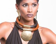Items similar to African Tribal statement Necklace on Etsy