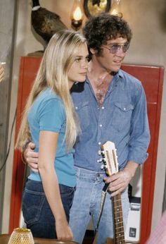 Peggy Lipton and Michael Cole