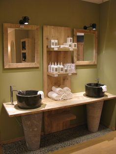 badkamermeubel steigerhout ref: marmeren zuilen - Badkamermeubelen steigerhout - WONEN