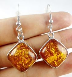 Amber Earrings Baltic Amber Earrings Baltic Amber by MetalBrothers