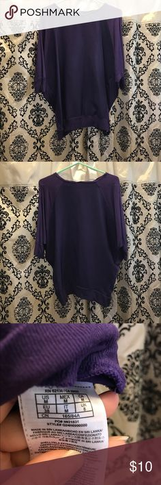 Guess? Dolman Top Purple dolmain top, light and comfortable. Sleeves come up to elbow. Size Medium. Used condition. Guess Tops Blouses