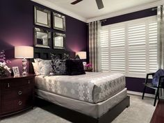 benjamin moore passion plum is one of the best purple paint colours without being too bright. It's a dark colour and is great for a bedroom or feature accent wall