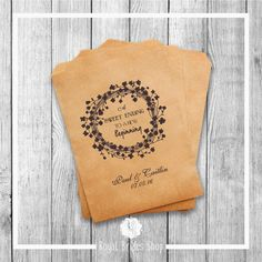 Wedding Favor Bags - Style 006