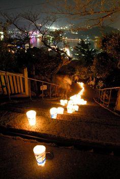 "Onomichi light Festival. Looking for more information about Hiroshima? Go Visit ""Onomichiya""  (Onomichi City Tourist Association). http://www.ononavi.jp/onomichiya/"
