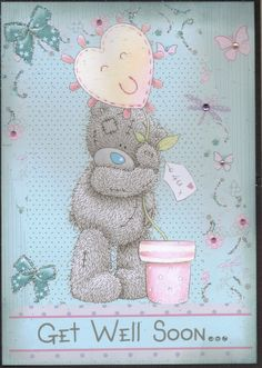 Tatty Ted Get Well Card £2.50