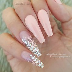 50 Pretty French Pink Ombre And Glitter On Long Acrylic Coffin Nails Design For Spring & Summ. 50 Pretty French Pink Ombre And Glitter On Long Acrylic Coffin Nails Design For Spring & Summer<br> Light Pink Acrylic Nails, Mauve Nails, Best Acrylic Nails, Glitter Nails, Pink Glitter, Pastel Nails, Prom Nails, My Nails, Gorgeous Nails