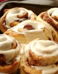 You can't go wrong with homemade Cinnamon rolls, especially on a fall day and KLOVE playing in the background :)