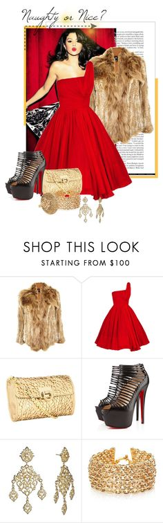 """""""naughty or nice?"""" by krahmmm ❤ liked on Polyvore featuring Elizabeth and James, Ivanka Trump, Christian Louboutin, Isharya and Roberto Coin"""