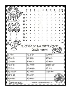 EXCELENTE CUADERNO PARA TRABAJAR UNA SEMANA EL CIRCO DE LAS MATEMÁTICAS - Imagenes Educativas Math Games, Math Activities, Math Exercises, Occupational Therapy Activities, English For Beginners, Math Challenge, Math Humor, Homeschool Math, Math For Kids