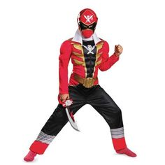 Disguise Saban Super MegaForce Power Rangers Red Ranger Classic Muscle Boys Costume, - Most Wanted Christmas Toys Pawer Rangers, Power Rangers Dino, Mighty Morphin Power Rangers, Boy Costumes, Super Hero Costumes, Adult Costumes, Spirit Halloween, Halloween Costumes For Kids, Halloween 2014