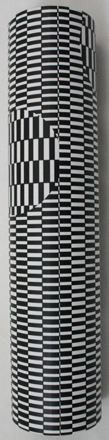 6.5 inch Kaleidoscope Black & White Optical Illusion Print Learn about optics and optical illusions with this classic kaleidoscope toy. Bright Colors and Shapes Play through the Reflective Surfaces of