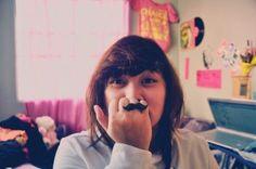 mustache ring! LOL