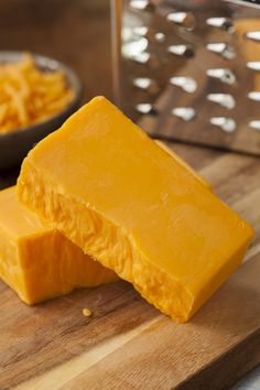 """Large chunks of cheese? Cut in half and """"vacuum seal"""" half until it is needed."""