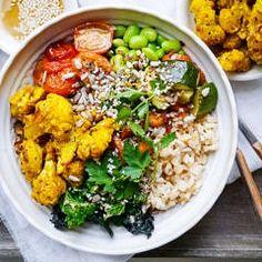 Roasted Turmeric Cauliflower Buddha Bowls (gluten free, dairy free, egg free, vegan friendly) - a healthy recipe by Nourish Everyday
