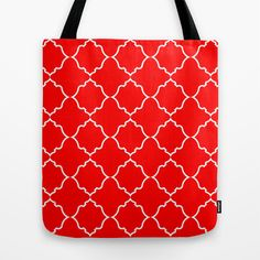 Moroccan Red Tote Bag by House of Jennifer - $22.00
