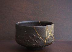 Premium Kintsugi Repair Kit Urushi Lacquer Real Gold From Japan, Kintsukuroi 3 Ceramic Bowls, Ceramic Pottery, Slab Pottery, Ceramic Clay, Pottery Vase, Kintsugi, Japanese Design, Japanese Art, Japanese Broken Pottery