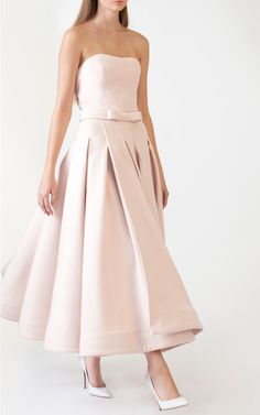 Wrap Box Pleat Swing Dress by Katie Ermilio for Preorder on Moda Operandi