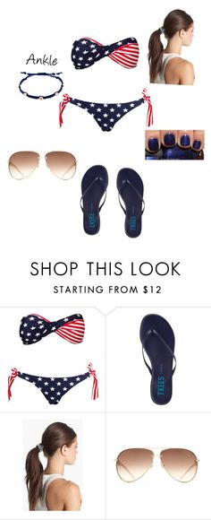 """Swimming day"" by soccergoalie19 ❤ liked on Polyvore featuring Hot Anatomy, Tkees, Tasha, OPI and Cachet London"