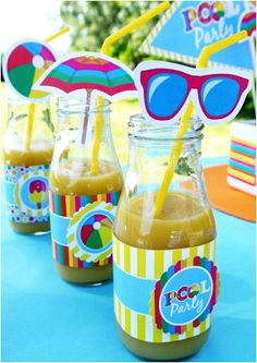 Pool Party Birthday Party Printables Supplies and Decorations