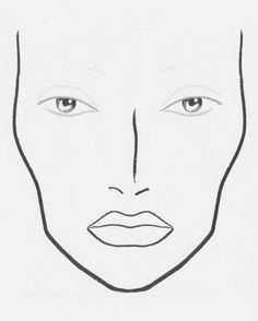 Hollyschultze Face Template Makeup Mac Charts Drawing