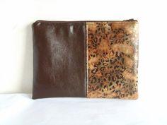Leopard clutch vegan leather clutch leopard purse by allbyFEDI