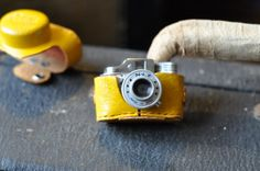 Vintage Hit brand  spy camera with yellow by Twistedcopperforest, $45.00