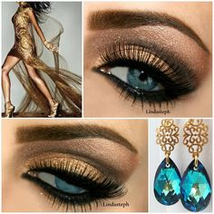 Golden look  @ lindasteph