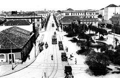 Imagens dos bondes na Praça  Zacarias e Muricy por volta dos  anos 20