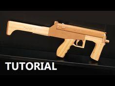 Tutorial - full auto mag fed rubber band gun - YouTube