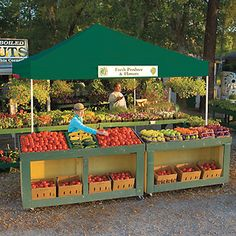 ShelterLogic 12 x 12 Pop Up Canopy with Black Roller Bag - Canopies at Hayneedle Vegetable Stand, Vegetable Shop, Vegetable Storage, Produce Stand, Produce Displays, Top Pro, Shelter Design, Fruit Stands, Farm Stand