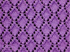 Openwork Diamonds  - Lace knitting pattern