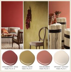 Hay rides, falling leaves pumpkin patches inspired this palette of paint colors by Behr.