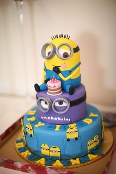'Despicable Me 2' themed birthday cake. '