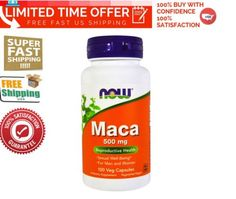 Maca-500-mg-100-Veg-Capsules-By-NOW-Reproductive-Health-Free-Fast-Shipping