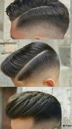 Side part mens haircut faded
