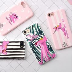 For iPhone 7 Plus Case For Cover iPhone 6 Fashion Candy Color Zebra Pink Panther Soft TPU Rubber Silicon Cover For iPhone 7 Case