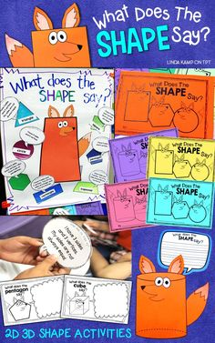 Looking for some seriously fun ways to teach 2D and 3D shapes? With these high engagement lessons, games, and activities students work with shapes and attributes on the interactive anchor chart that doubles as a game board. Practice and assess with the fun attribute booklets and get your class writing about math with the shape fox craft! For 1st, 2nd, 3rd grade shapes and geometry.