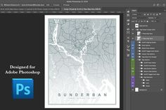 Map Poster Creator for Photoshop by Drifter Studio on @creativemarket