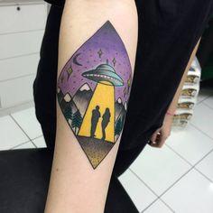 UFO Tattoo Design by sagui junior