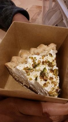Earl Grey pie from pie hole topped with pistachios