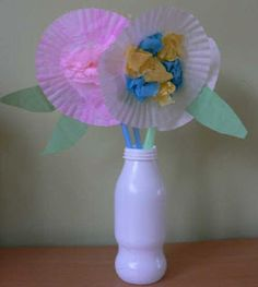 Arts and Crafts for Tots: Spring Flowers in a Vase