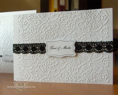 Simple Black and White Wedding Invitations (Invitatii de nunta simple cu alb si negru) - Handmade by Meda